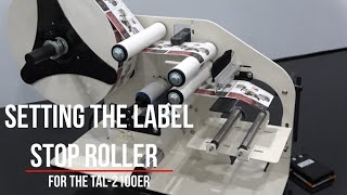 TAL-2100ER Setting Label Stop Roller