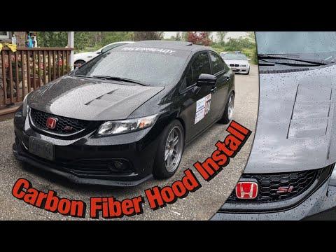9th Gen Civic Si - Seibon Carbon Fiber Hood Install!