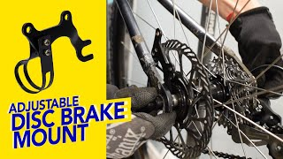 Converting to Disc Brakes: Adjuṡtable Disc Brake Mount Holder