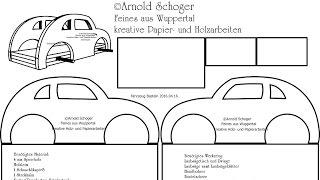 Bastelvorlage Auto Kreativzauber Bastelblog