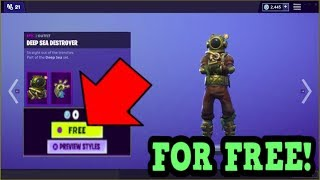 HOW TO GET *NEW* DEEP SEA DESTROYER SKIN FOR FREE! (Fortnite New Skins)