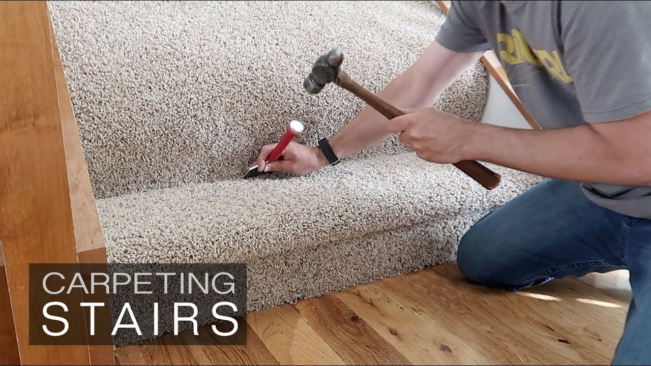 How To Install Carpet On Stairs How Hard Is It Youtube | Average Cost To Carpet Stairs | Stair Case | Stair Runner | Hardwood Floors | Wood Flooring | Carpet Installation Cost