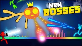 THE MOST OVERPOWERED RAINBOW BOSS IN STICK FIGHT HALLOWEEN (Stick Fight #5 - BOSS UPDATE)