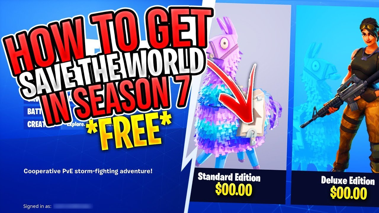 fortnite how to get save the world for free pc