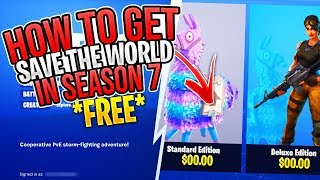 *NEW 2019* HOW TO GET FORTNITE SAVE THE WORLD FOR FREE! ( PS4, XBOX, PC)