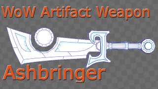 WoW Artifact Weapon Ashbringer papercraft