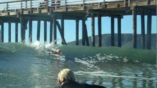 Groms Surfing Central California