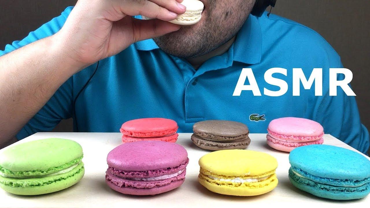 Asmr Eating Dessert Macarons Soft Crispy Eating Sounds No Talking