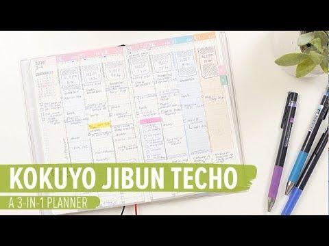 Kokuyo Jibun Techo: A 3-in-1 Planner