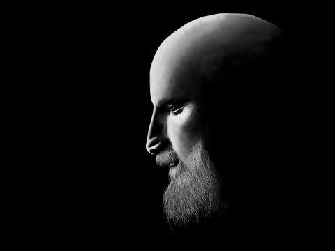 paint portrait on black background digitally on photoshop cc 2017