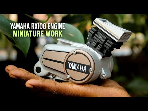 Yamaha Rx 100 Engine Miniature Work