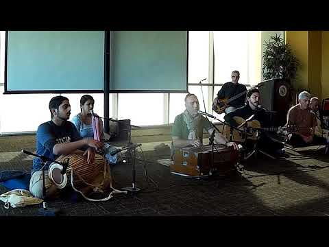 Bada Haridas Prabhu Chants Hare Krishna at USF Campus Kirtan