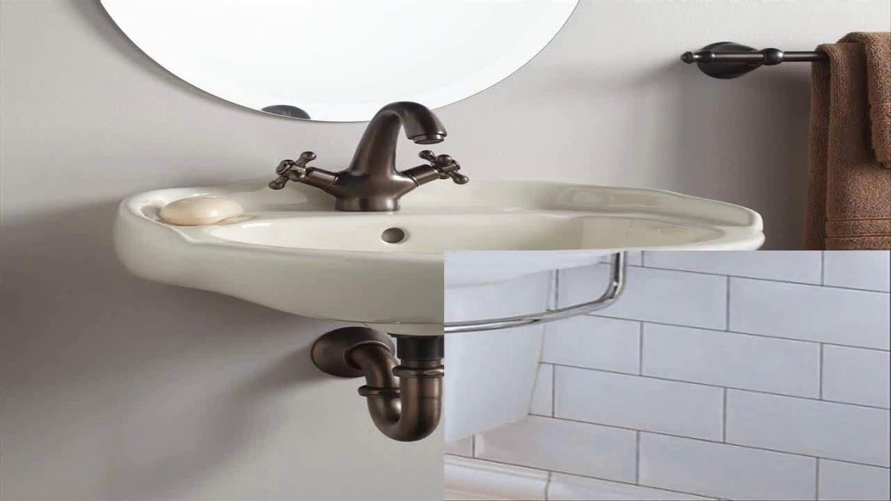 Small Wall Mount Bathroom Sink With Towel Bar - YouTube