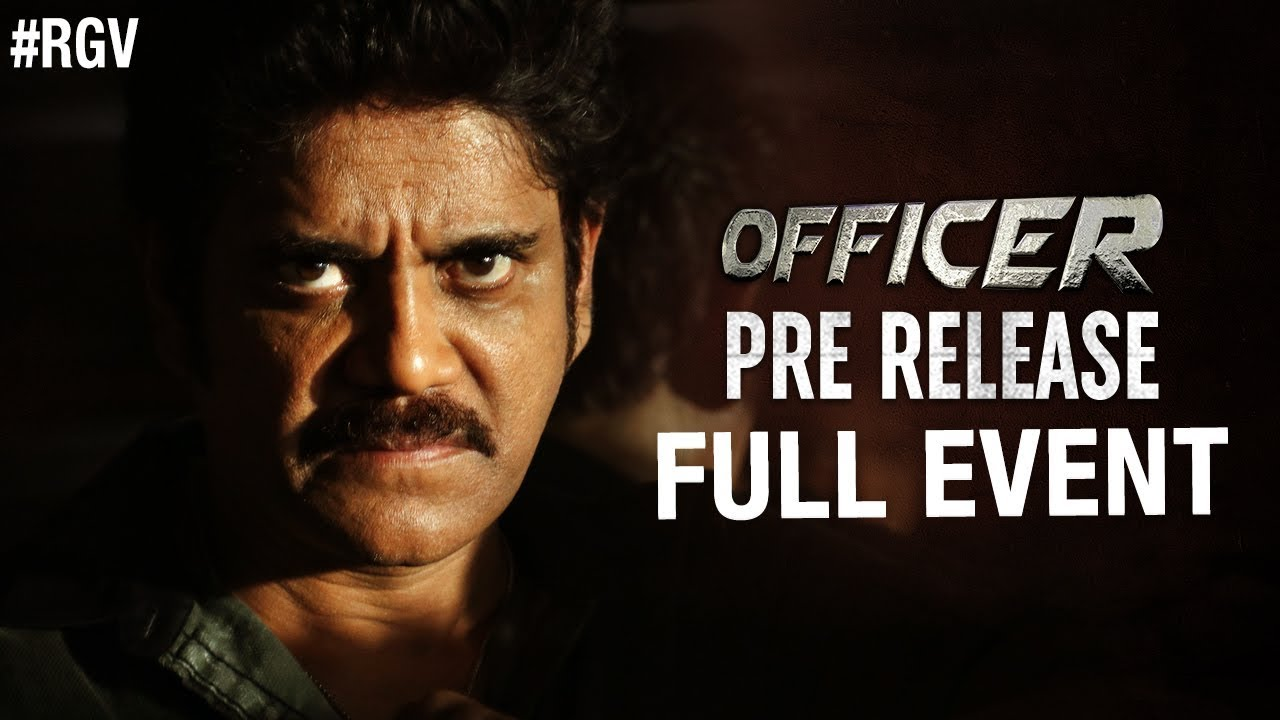 Officer Pre Release Full Event Nagarjuna Rgv Myra Sareen Ram Gopal Varma Officer