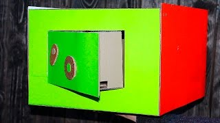 Настоящий сейф из картона — хранилище/A real safe box made from cardboard - depository