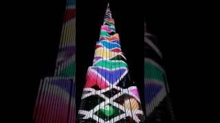 Burj Khalifa LED show Dubai