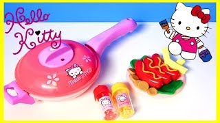 Hello Kitty cooking playset & Superhero Play Doh Cartoons & Stop Motion Movies for babies