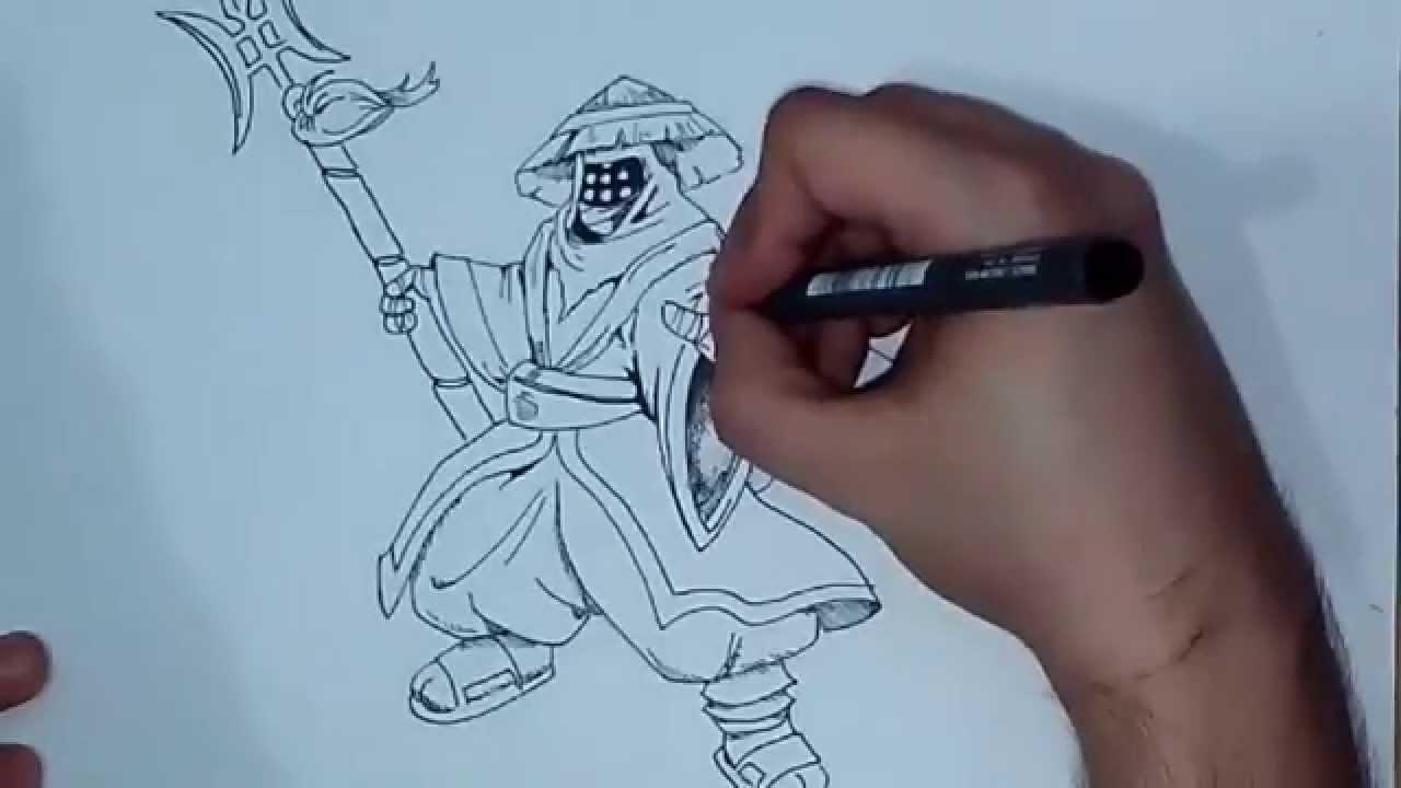 Como dibujar a Jax (League of Legends) (LoL) - YouTube