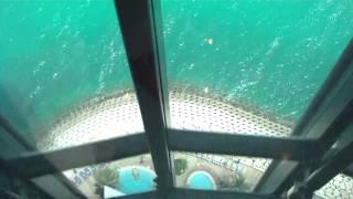 Kids on Cruise: Burj al Arab Dubai  - Aufzugfahrt ins Al Muntaha Restaurant