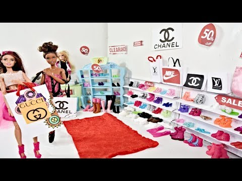 BARBIE DOLL Shoe Store Boneka Barbie Toko Sepatu Mainan Barbie Loja De Sapatos DIY TOY SHOP