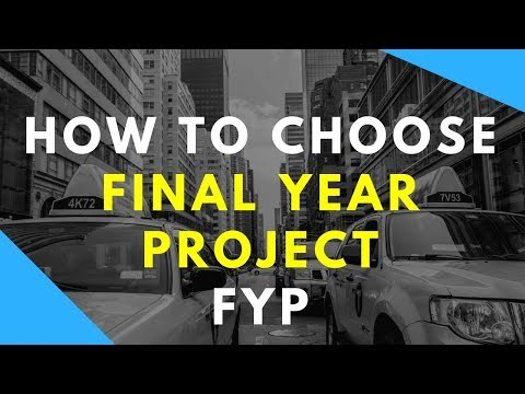 how to choose final year project topic   Select FYP ideas for CS computer science in urdu hindi what