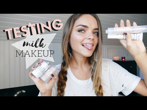 TESTING ALL MILK MAKEUP PRODUCTS!! | Tess Florio