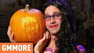 Carving Rhett & Link Pumpkins