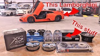 I put an audio system in Tavarish's Fast & Furious Lamborghini