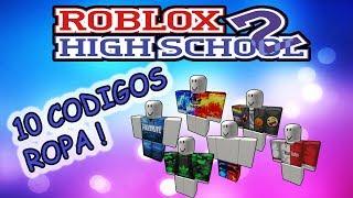 10 CODIGOS DE ROBLOXIAN HIGHSCHOOL DE ROPA EN ESPAÑOL ★ ROBLOX