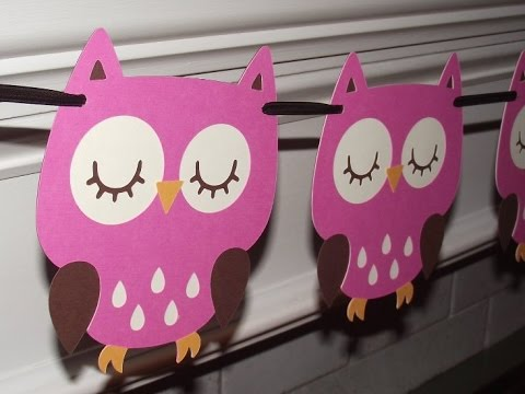 Owl baby shower decorations owl baby shower decorations diy youtube - Decoration baby shower fait maison ...