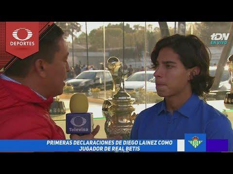 Lainez da sus primeras palabras como jugador del Betis | Televisa Deportes