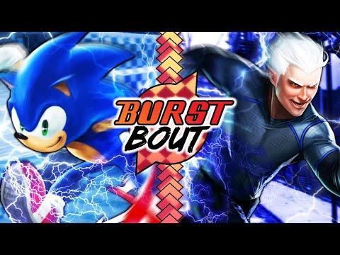 Burst Bout! - Sonic vs Quicksilver (Sonic The Hedgehog vs Marvel)
