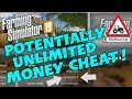 Farming Simulator 19, PS4. Potentially Unlimited MONEY CHEAT! (Special Episode)
