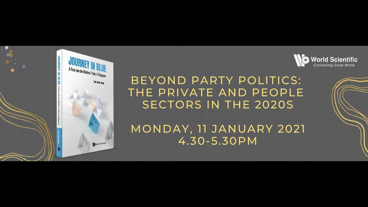 Moderated a webinar on the next decade of Singapore politics, 11 January 2021