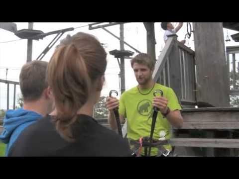 Klettergurt Für Hochseilgarten : Sicherung hochseilgarten youtube