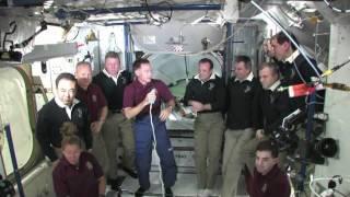Farewell for Shuttle Crew