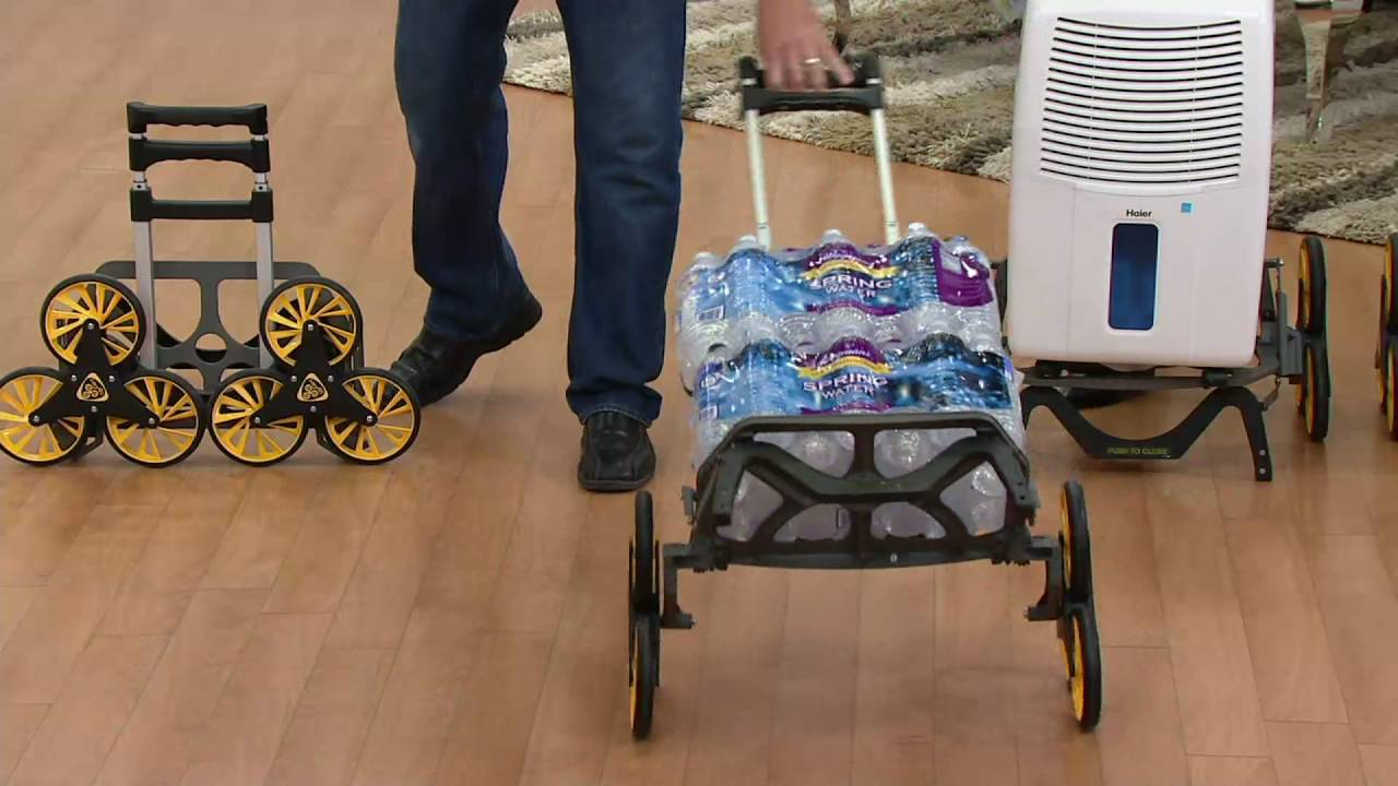 UpCart All-terrain Folding Stair Climbing Hand Cart on QVC