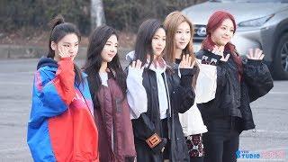 190301 ITZY 있지 3주차 뮤직뱅크 출근길 4K 직캠 (예지,리아,류진,채령,유나) ITZY fancam by Spinel