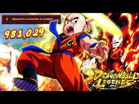 LV 1,000 KRILLIN TOO STRONG!! FIRST RAGE QUIT | Dragon Ball Legends
