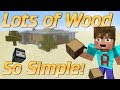 How to make a Wood Farm in Minecraft | Simple Minecraft Wood Farm | Observer block farm tutorial
