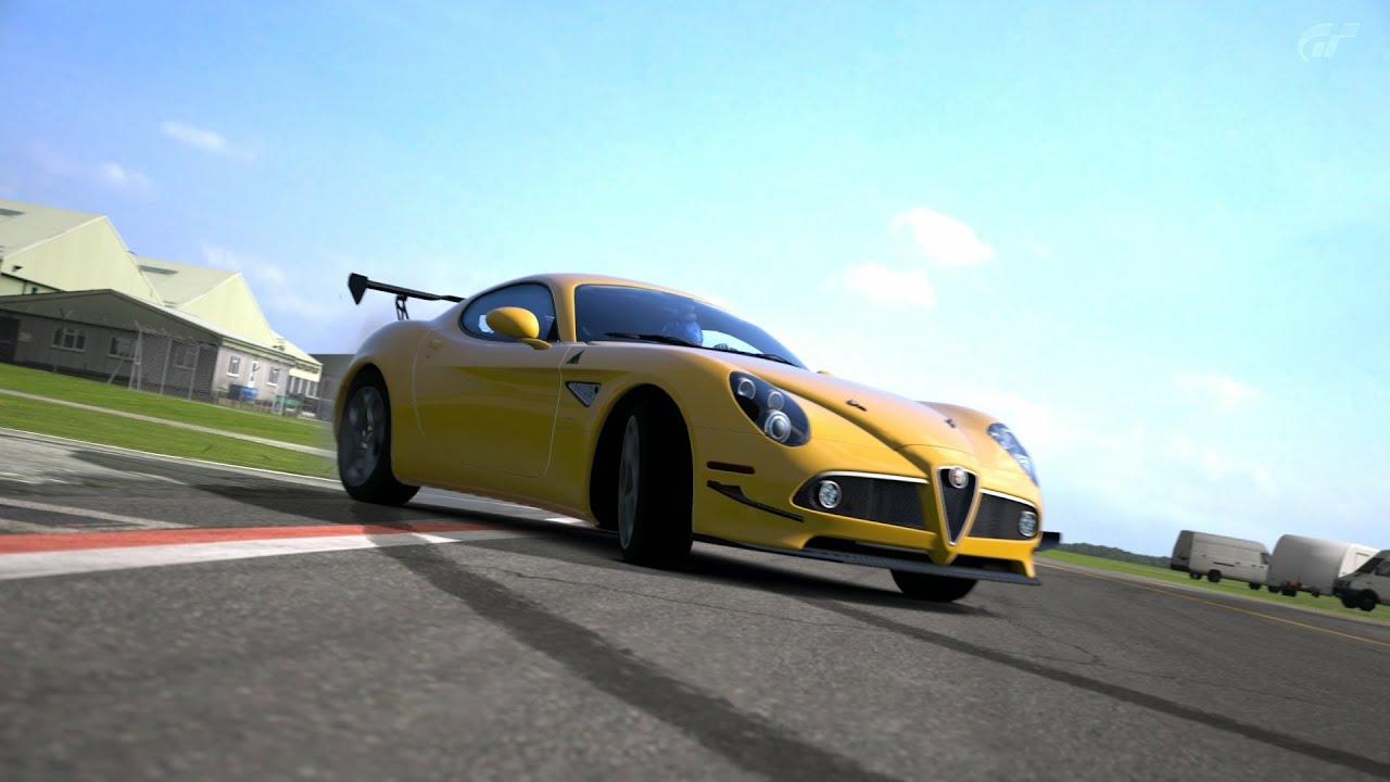 alfa romeo 8c competizione '08 top gear test track - youtube