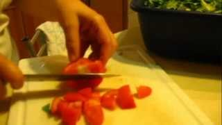 Making Lebanese Fattoush Salad And Other Appetizers
