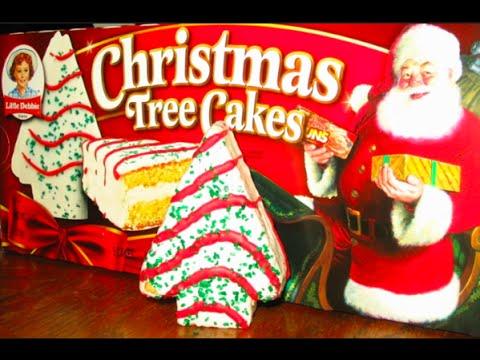 Little Debbie Christmas Tree Cake Youtube