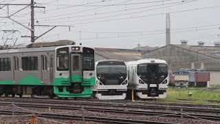 えちごトキめき鉄道ET127系V2編成構内試運転 長野総合車両センター