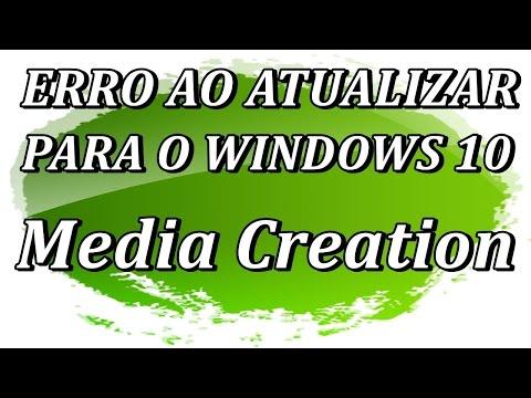 Erro ao Atualizar para Windows 10 - Atualizar com Media Creation