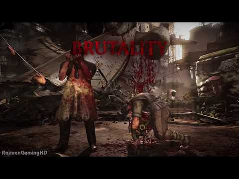 Mortal Kombat X - LEATHERFACE All Fatality Brutality X-ray & Ending Kombat Pack 2 @ 1080p HD ✔