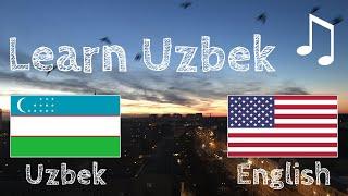 Learn before Sleeping - Uzbek (native speaker)  - with music screenshot 1
