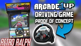 Arcade1up Driving MOD - Proof of Concept w/ mame & HyperSpin