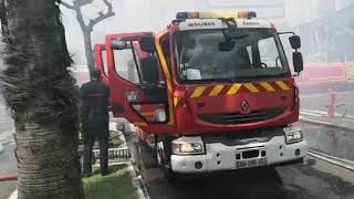 Incendie Pointe à Pitre :  Le bâtiment s'est effondré après avoir été ravagé par les flammes.