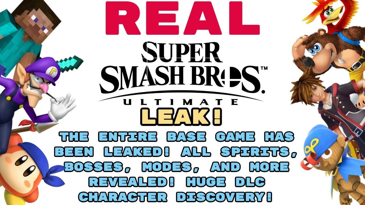 REAL Smash Ultimate LEAK! FULL GAME LEAKED! ALL SPIRITS, BOSSES AND MORE  REVEALED! + DLC LEAK?!